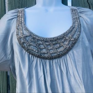 Cato Silver Beaded blouse